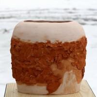 W tej formie eksperymentowałam łącząc szamot z gliną na cegły.